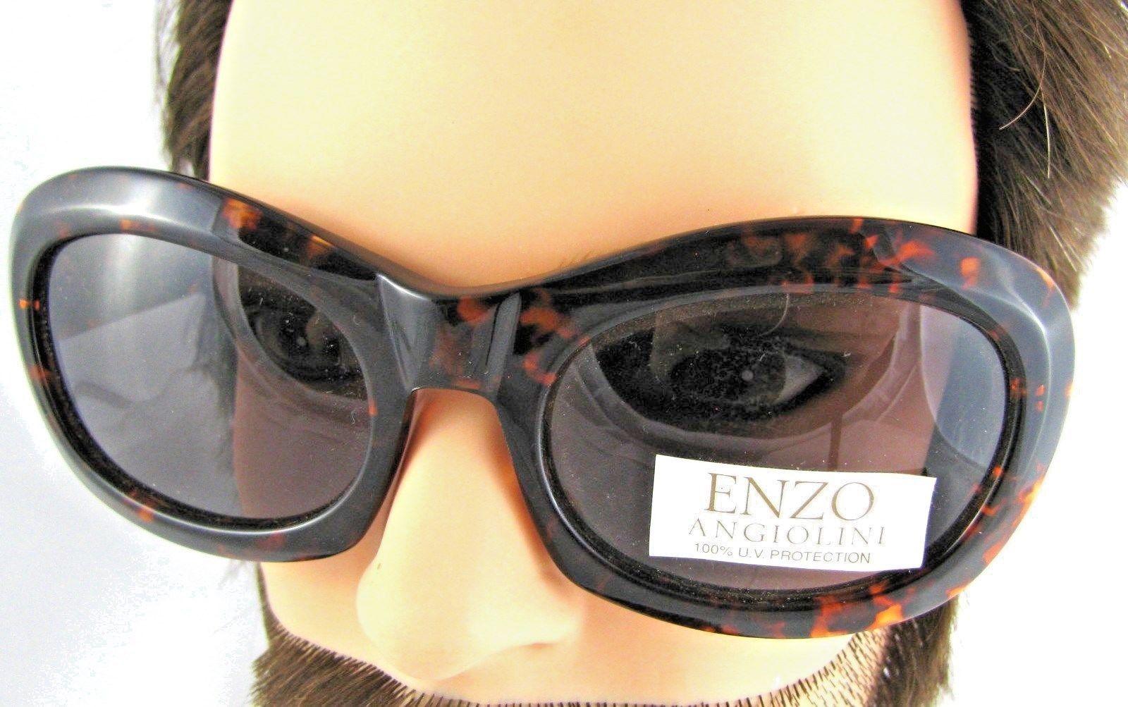 36e055f1bd ... New Vintage Tortoise Sunglasses Enzo Angionili Brown Black Riviera 100%  UV Prot