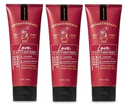 Bath & Body Works Aromatherapy Love Jasmine & Sandalwood Body Cream- Lot... - $25.99
