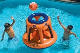 Shoot Ball Inflatable Pool Toy Water Sports Kids Basketball Hoop Set NEW - $50.39