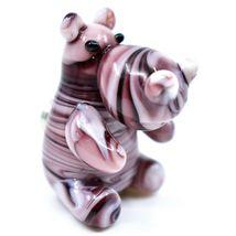 Dynasty Gallery Handmade Art Glass Hippopotamus Hippo Magnet image 5