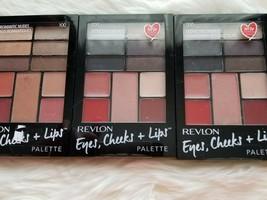 Three (3) Revlon, Eye, Cheek + Lips Palette, Nudes & Smokies, New - $22.50