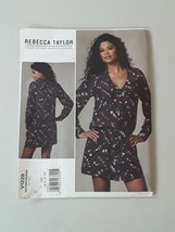 Vogue 1226  Designer Rebecca Taylor loose Dress Sewing Pattern size 6 th... - $7.91
