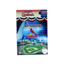 MLB Cardinals Jigsaw Puzzle, 100-Piece MasterPieces St. Louis Baseball Toy Game - $9.85