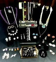 Vintage Mixed Costume Jewelry Lot 73 Items Trifari,Sarah,Reinad,Emmons,Coro - $123.75