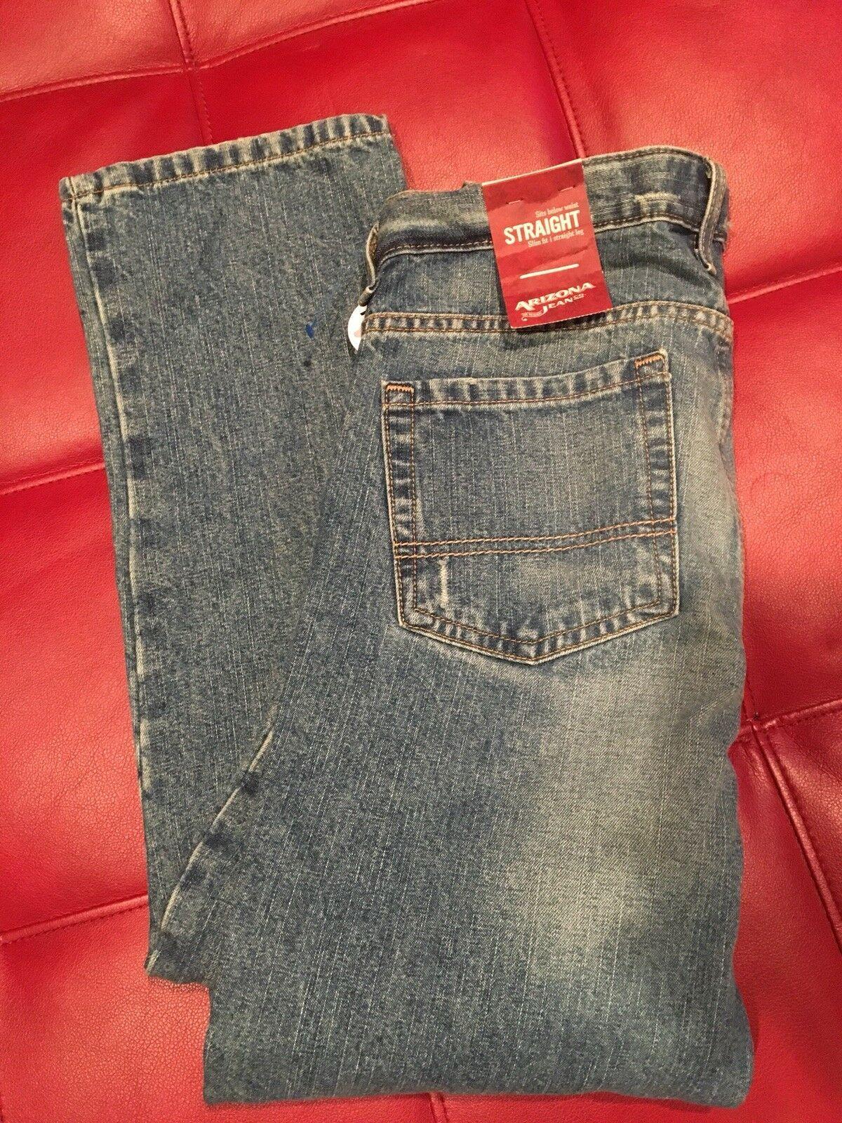 Boys Jeans Size 12 Husky Nwt Arizona Loose Straight AA87