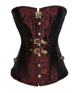 Corselet Over bust Brocade Vintage Corset Top with Thong steampunk corset  - $24.99
