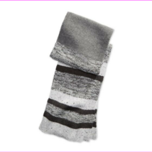 Alfani Men's Color Blocked Marled Scarf Gray One Size - $14.07