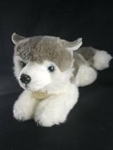 "Aurora Miyoni Tots Gray White Blue Eyes Siberian Husky Plush Stuffed 11""... - $14.25"