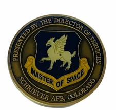 Challenge coin vtg service award military Master Space Schriever Air Force CO a7 - $17.37