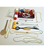 Junk Drawer Lot - Crafts, Jewelry, Pens, Cook Books, Buttons, Misc. Items - $45.53