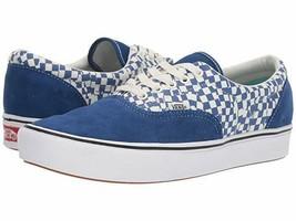 Vans Comfycush Authentic Checkerboard Lapis Blue Men's Skate Shoes Size 13 - $48.50