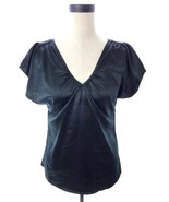 Women's H & M Black V Neck Blouse M 10 Top - $16.00