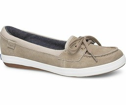Keds WH58432 Women's Glimmer Suede Taupe Shoes, 5 Med - $34.64