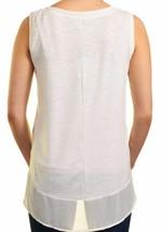 NEW Adrienne Vittadini Ladies' High-Low Sleeveless Top Chalk/White image 2
