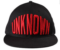 Entree Lifestyle Unknown Black Red O/S Snapback Flat Brim Hat Baseball Cap - £11.43 GBP