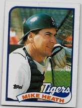 1989 Topps Baseball Card, #743, Mike Heath, Detroit Tigers - $0.99