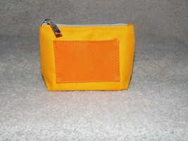 Clinique ORANGE Mini Zipper Makeup Zipper Bag Pouch New - $7.43