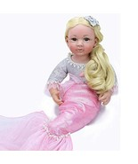 PURSUEBABY Mermaid Princess Reborn Baby Doll with Long Blonde Hair Alisa... - $119.86