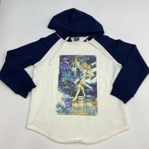 Star Wars Hoodie Mens M Navy White Long Sleeve Drawstring Cotton Graphic... - $19.99