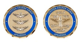 "Army Aviation Badges Basic Master Senior 1.75"" Challenge Coin Coin - $17.09"