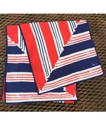Vtg Vera Neumann Logo Scarf Red White Blue Abstract Lines Scarve Rectang... - $34.16