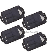 "LOT 4 Black 12"" x 9"" Soft Pistol Rug Gun Case with 3 Clip Pouches & Weap... - $54.69"