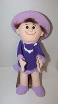 Timeless Toys plush doll in purple dress hat hand puppet - $9.89