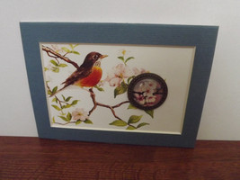 Robin with Apple Blossom Cabochon - $10.88