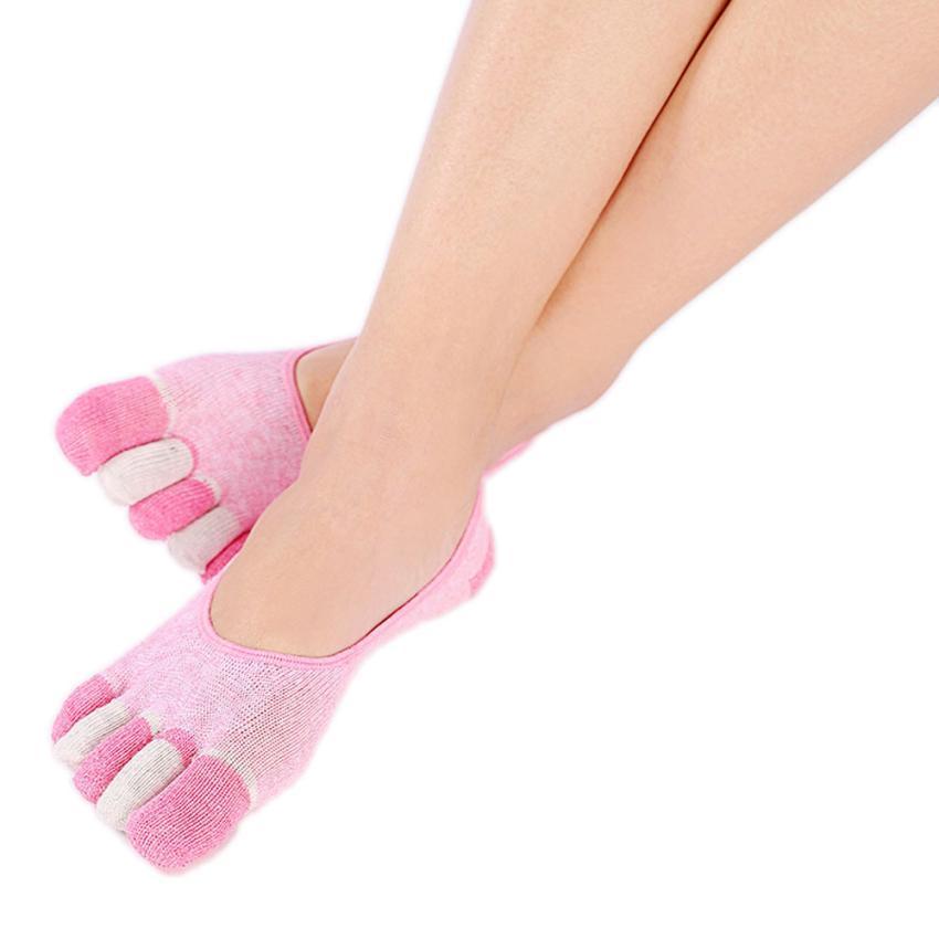 5-Toe Socks Gym Exercise Non Slip Soft Ventilation Massage Toe Socks Women