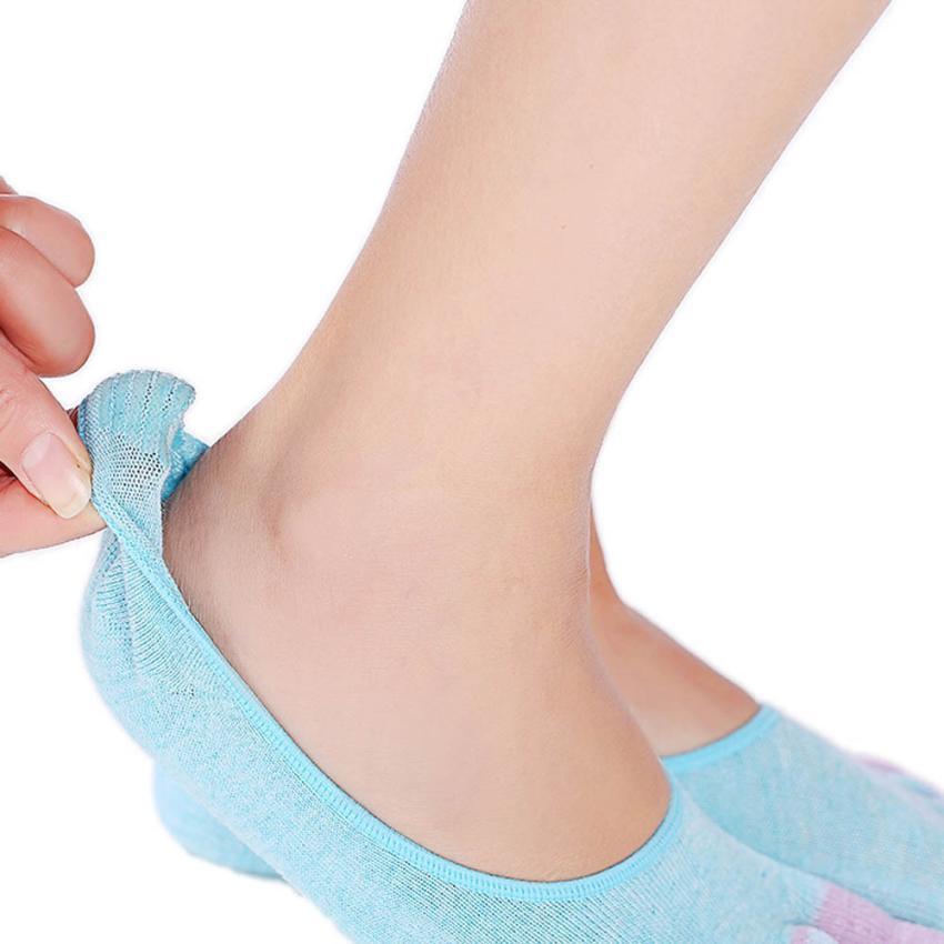 5-Toe Socks Gym Exercise Non Slip Soft Ventilation Massage Toe Socks Women image 2