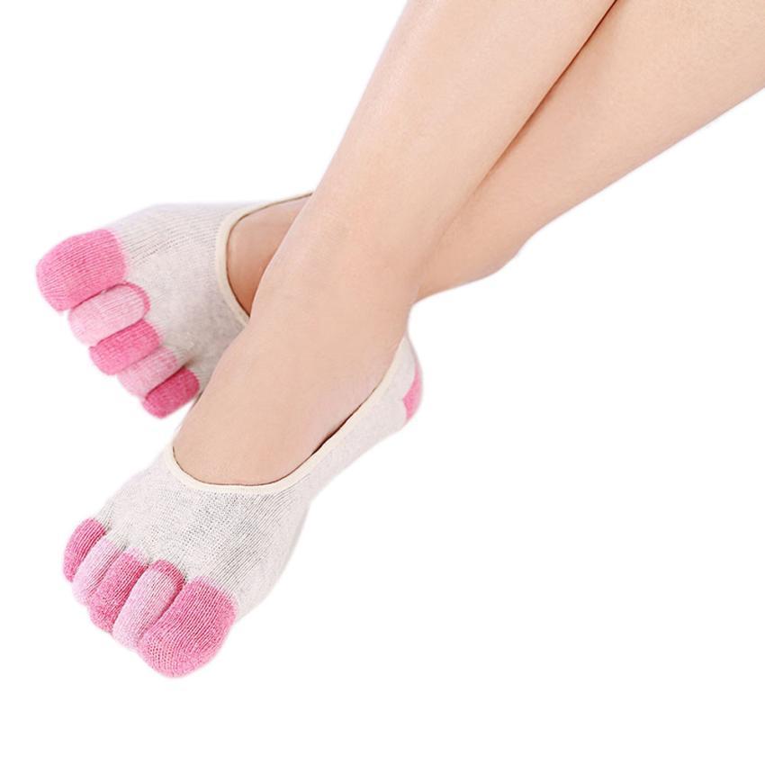 5-Toe Socks Gym Exercise Non Slip Soft Ventilation Massage Toe Socks Women image 3