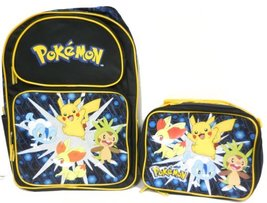 Pokemon Pikachu Diamond Pearl Large Backpack Bag with Matching Lunch Bag - $83.90