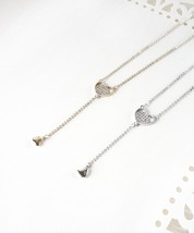 Heart Necklace, Tiny Heart Necklace, Gold or Si... - $17.84