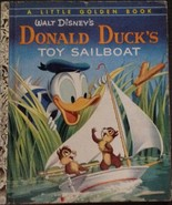 Walt Disney's Donald Duck's Toy Sailboat 1954 'A' 1st Edition Little Gol... - $24.65