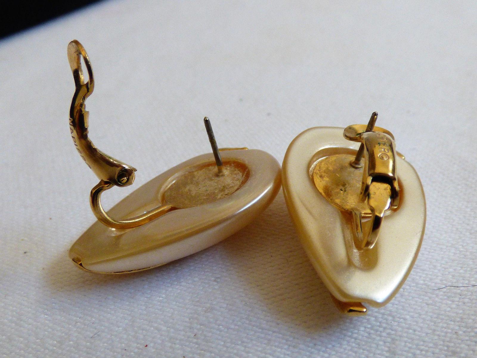 NAPIER ELEGANT GOLD TONE WHITE PEARL FAUX TEARDROP EARRINGS