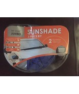 "Winplus Jumbo 34"" x 64"" 3 Piece Auto Sunshade Kit New!!! - $18.76"