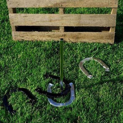 Horseshoe Game Set Equipment Heavy Duty Poles Outdoor Backyard Lawn Sports Play