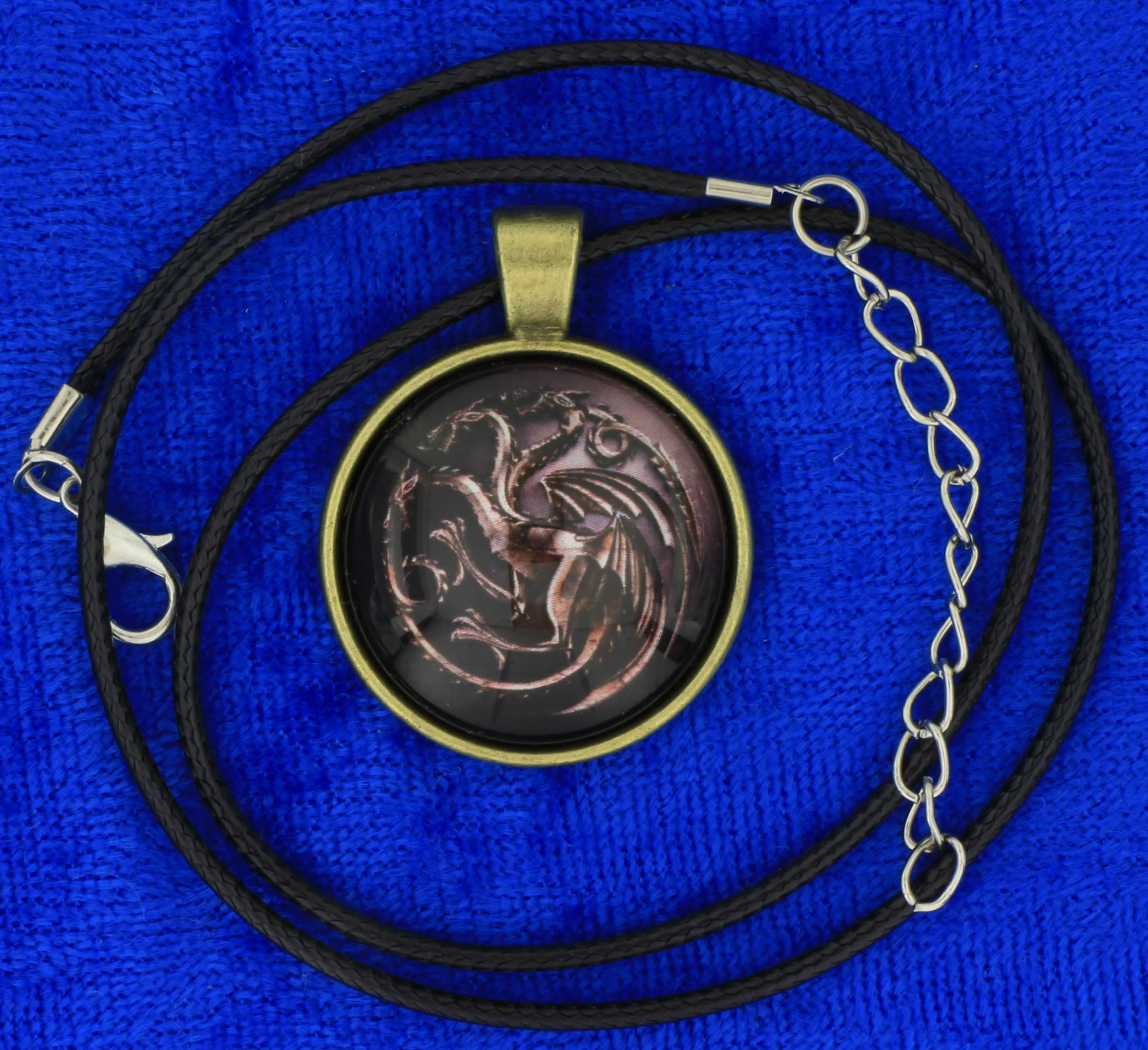 Targaryen Dragon Necklace or Keychain Game of Thrones Chain Style Length Choice