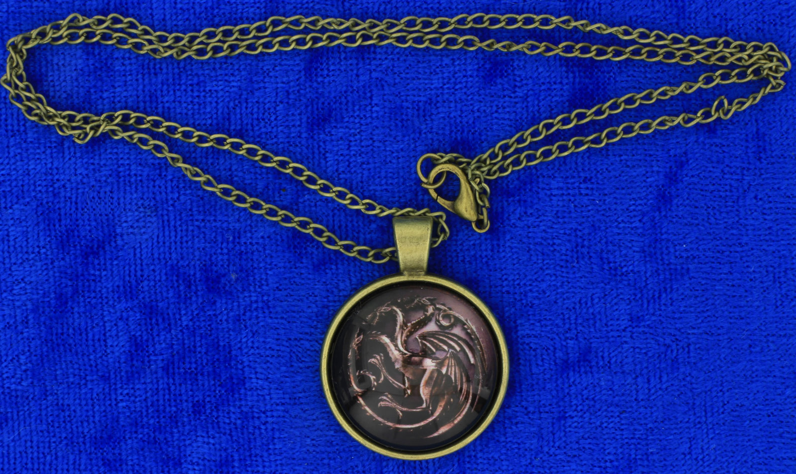 Targaryen dragon cabochon necklace