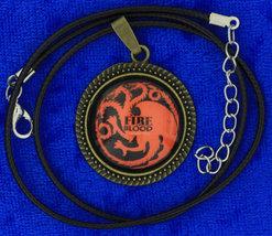 Targaryen fire   blood dragon cabochon necklace bronze choker thumb200
