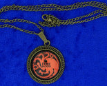 Targaryen fire   blood dragon cabochon necklace bronze thumb155 crop