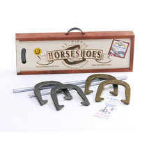 Horseshoe Game Set Equipment Heavy Duty Poles Outdoor Backyard Lawn Play... - $112.99