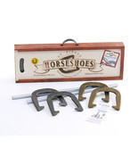 Horseshoe Game Set Equipment Heavy Duty Poles Outdoor Backyard Lawn Play... - €100,26 EUR