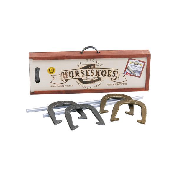 Horseshoe Game Set Equipment Heavy Duty Poles Outdoor Backyard Lawn Play Sports