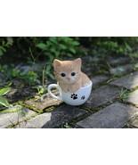 Pet Pal- Teacup Kitten Orange Tabby-Garden Statue, Garden Decoration, Ho... - $37.99
