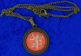 Lannister Lion Necklace or Keychain Game of Thrones Chain Style Length C... - $4.99+