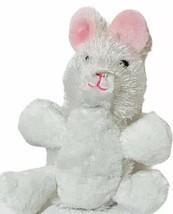 "6"" White Bunny Plush Stuffed Animal Webkinz by Ganz White pink ears - $9.79"