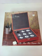 "Imperial Estate Crystal Tic Tac Toe Game Set Wooden Lined Box  10 1/4""x1... - $49.88"