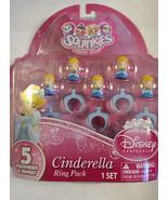 Squinkies Disney Princess Cinderella Ring Pack  Set of 5 NIP  - $8.90