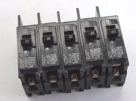 Lot Of 5 Siemens Circuit Breakers 20 A Bq1 B020 *Used*  Tt1 - $18.80